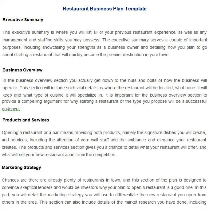Risk management plan for restaurant pdf