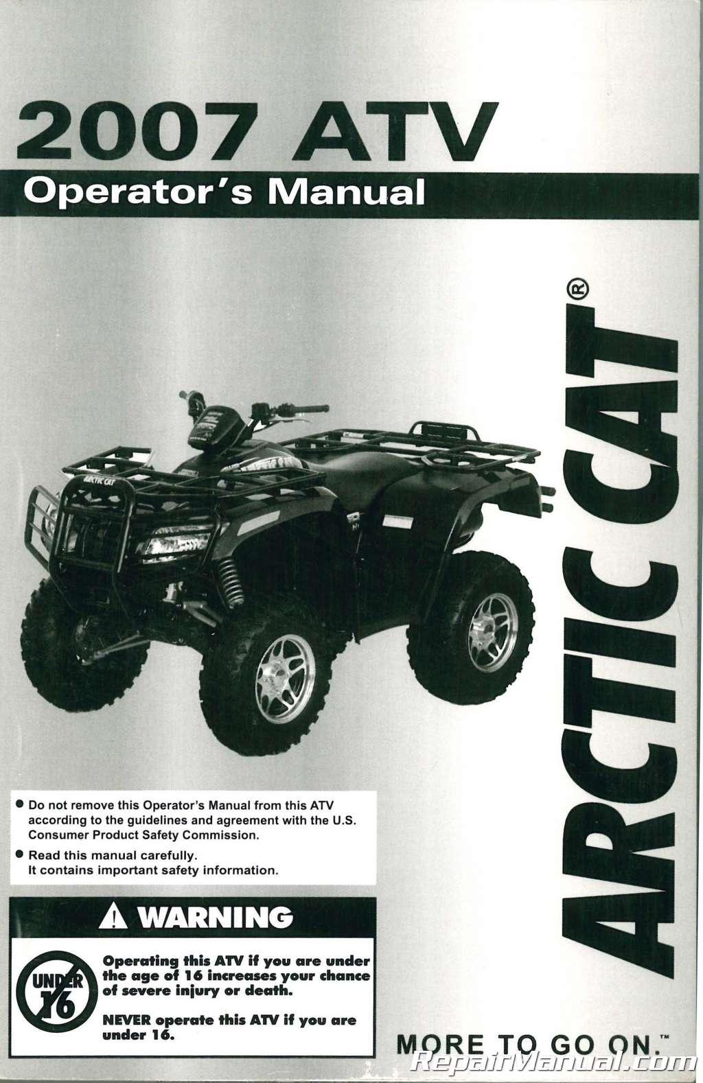 2003 arctic cat 500 atv owners manual