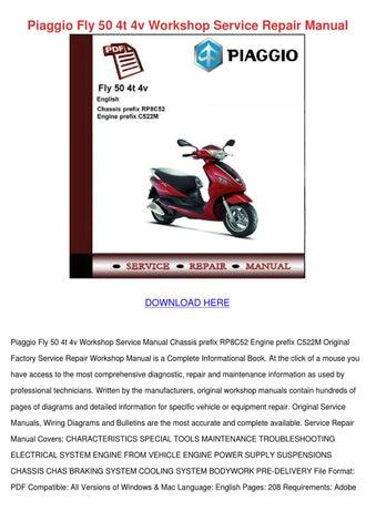 piaggio zip 50 workshop manual pdf