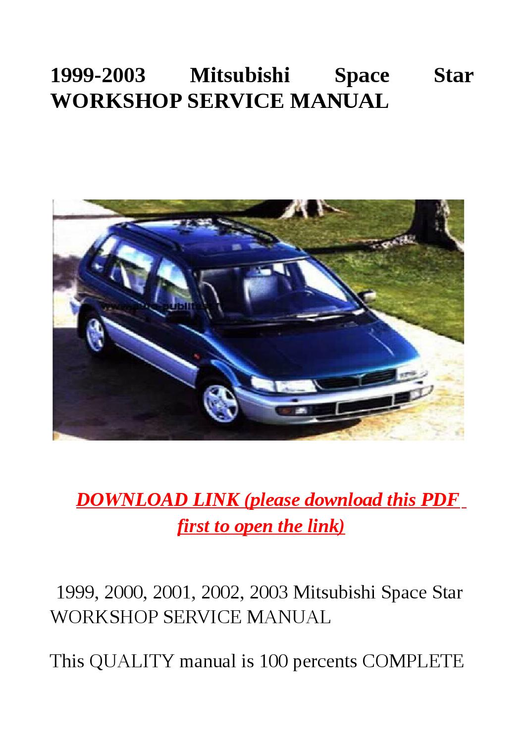 mitsubishi io 1999 workshop manual