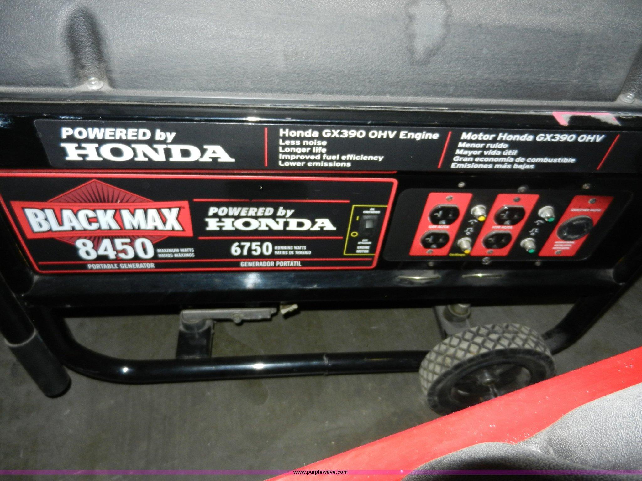 Honda black max 8450 generator manual