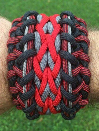 wide sanctified paracord bracelet instructions