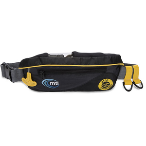 deluxe manual belt pack life jacket with hydration pouch
