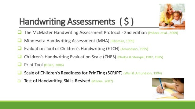 The print tool handwriting assessment pdf