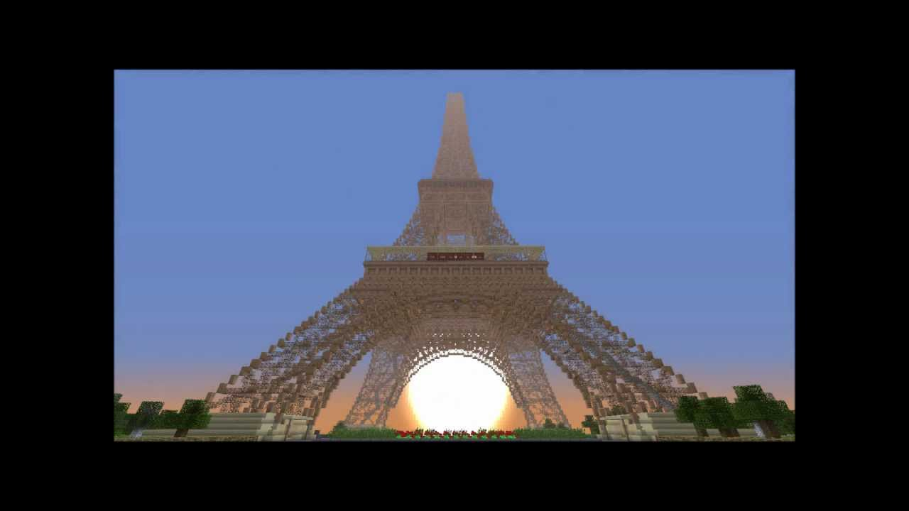 Minecraft how to build eiffel tower part 4