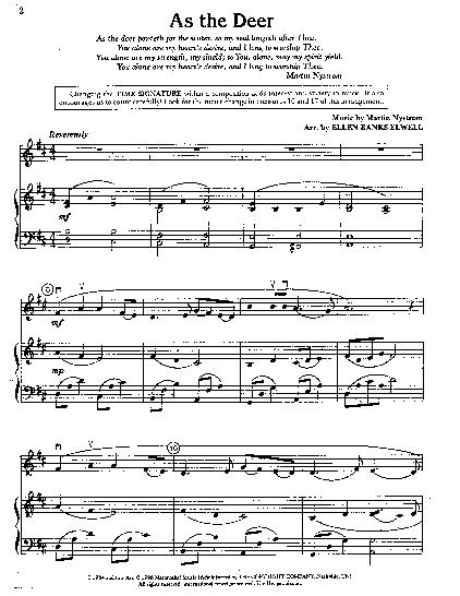 As the deer pants sheet music pdf