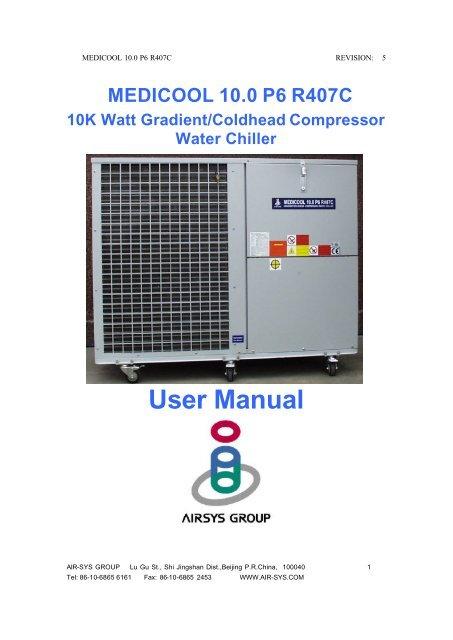 medicool 10.0 p6 r407c manual