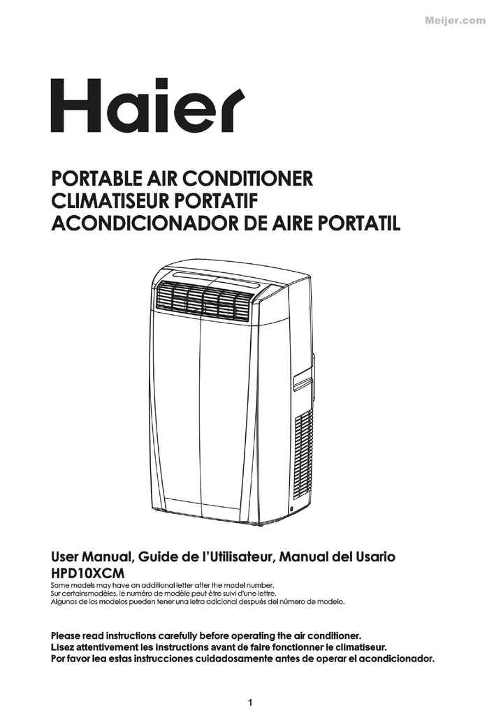 Commercial cool air conditioner instructions