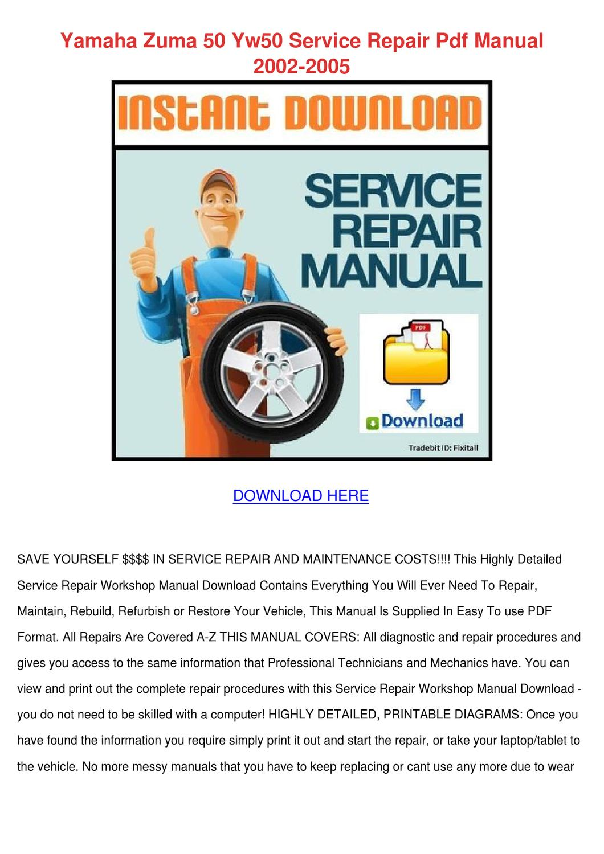 Yamaha zuma 50 service manual