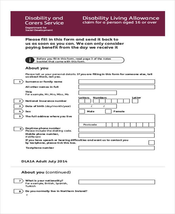 Youth allowance application form pdf