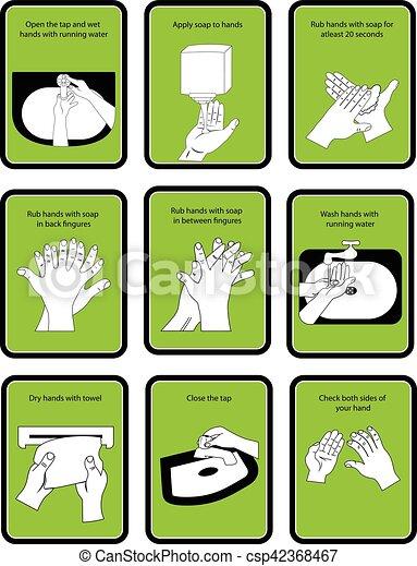 hand drawn wash instructions