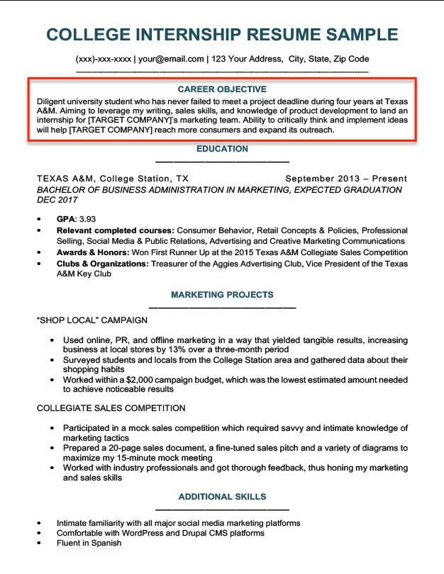 Major area of study on job application
