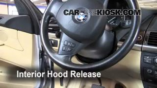 Bmw x5 how to open hood