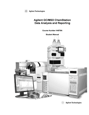 Msd chemstation data analysis manual