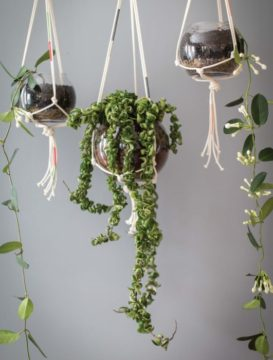 Utube how to make hanging macrame table