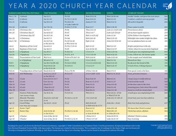 Revised common lectionary 2018 pdf
