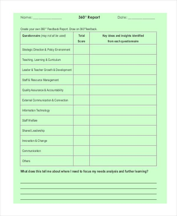 360 degree feedback form pdf