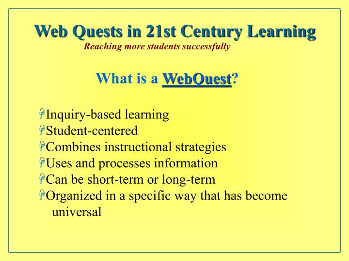 Inquiry based instructional strategies