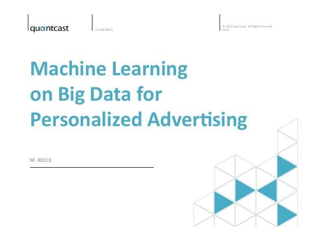 Big data machine learning tutorial
