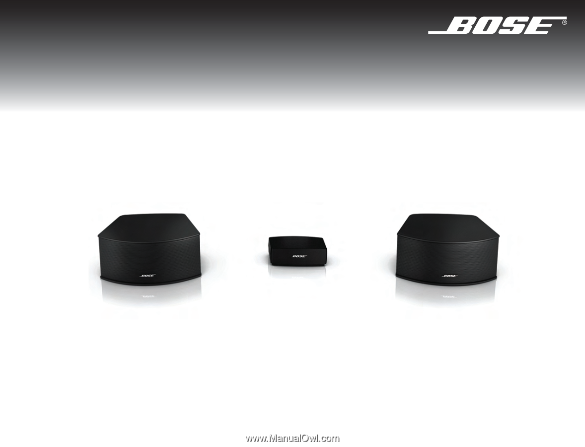 Bose cinemate 2.1 manual