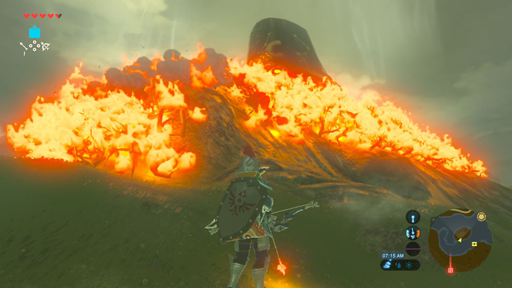 Breath of the wild how to make fire with flint