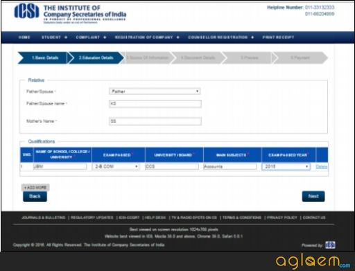 Cs academy erode application form