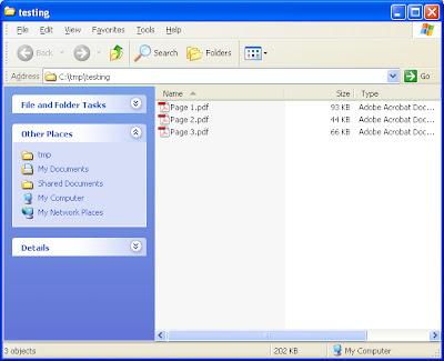 Combine pdf files acrobat script