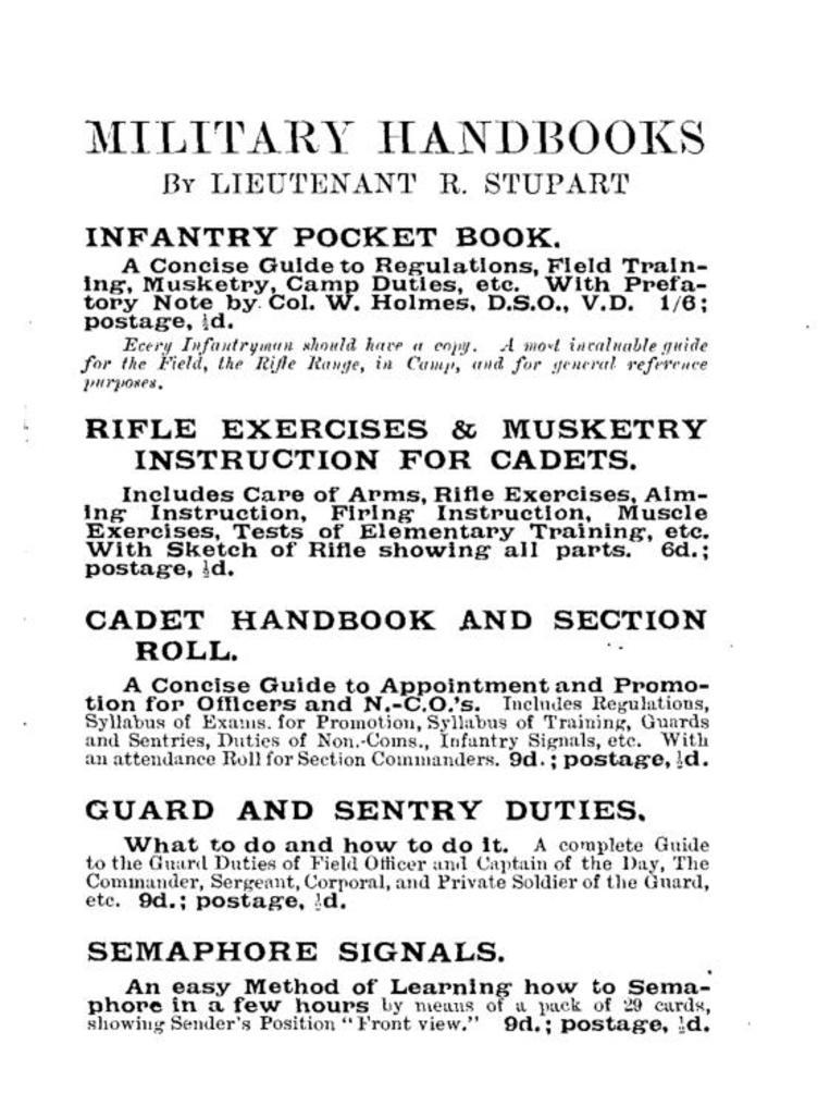 Australian army cadet handbook pdf