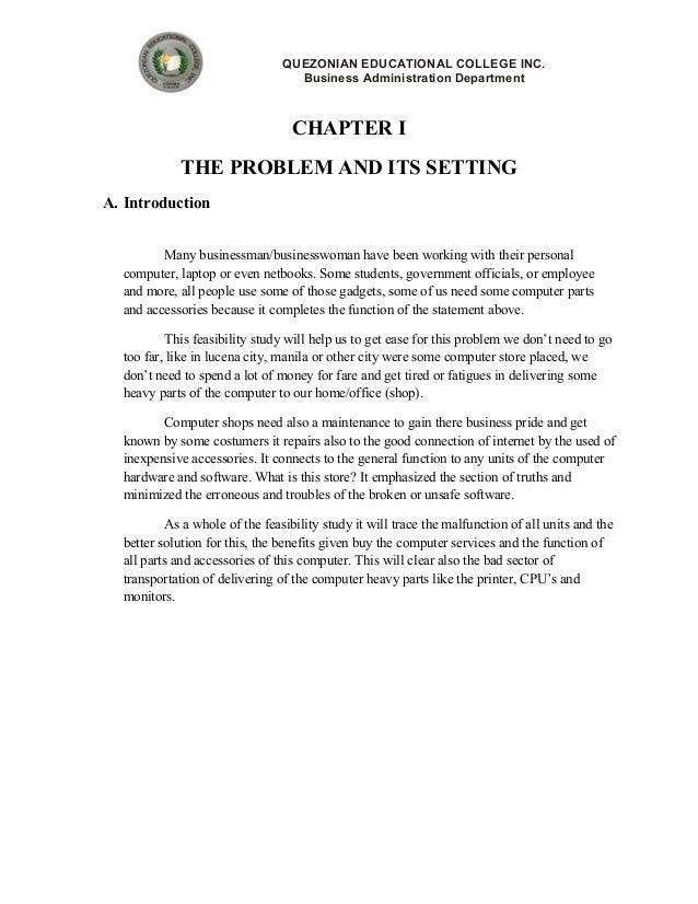 Feasibility study sample tagalog pdf