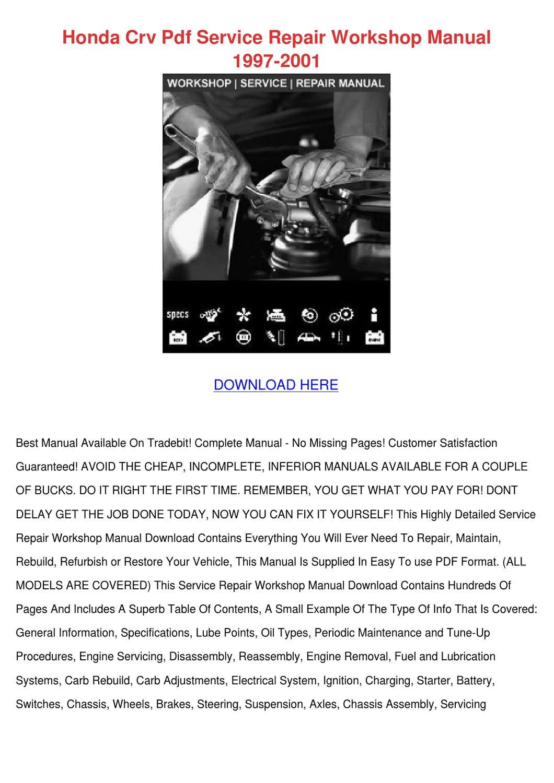 2011 honda crv repair manual pdf