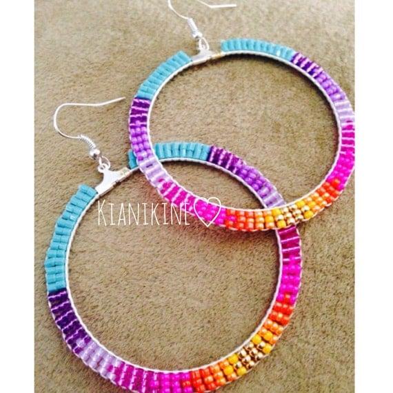 native beaded hoop earrings instructions