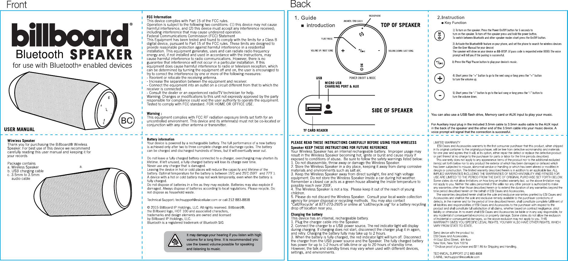 t2 bluetooth speaker instructions