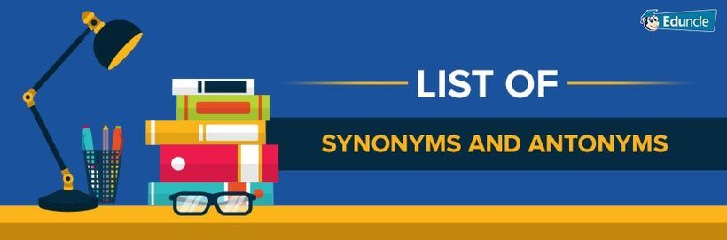 English synonyms list for competitive exams pdf