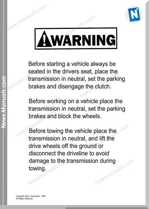 Eaton road ranger service manual