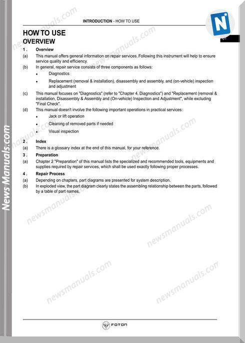 foton tunland chip manual download