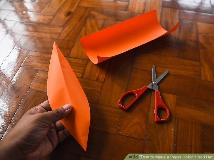 instructions how to make a robin hood hat