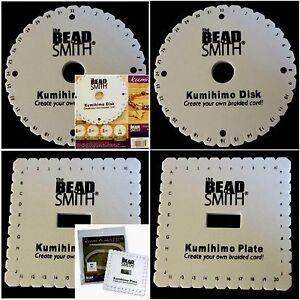kumihimo square braiding plate instructions