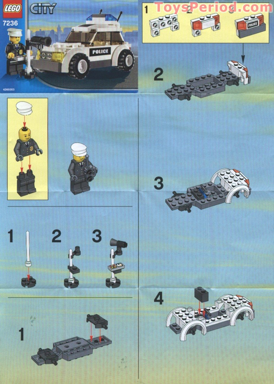 lego police car instruction booklet