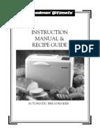 magic chef bread machine instruction manual