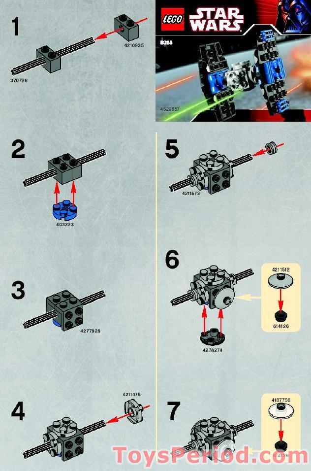 Mini tie fighter lego instructions