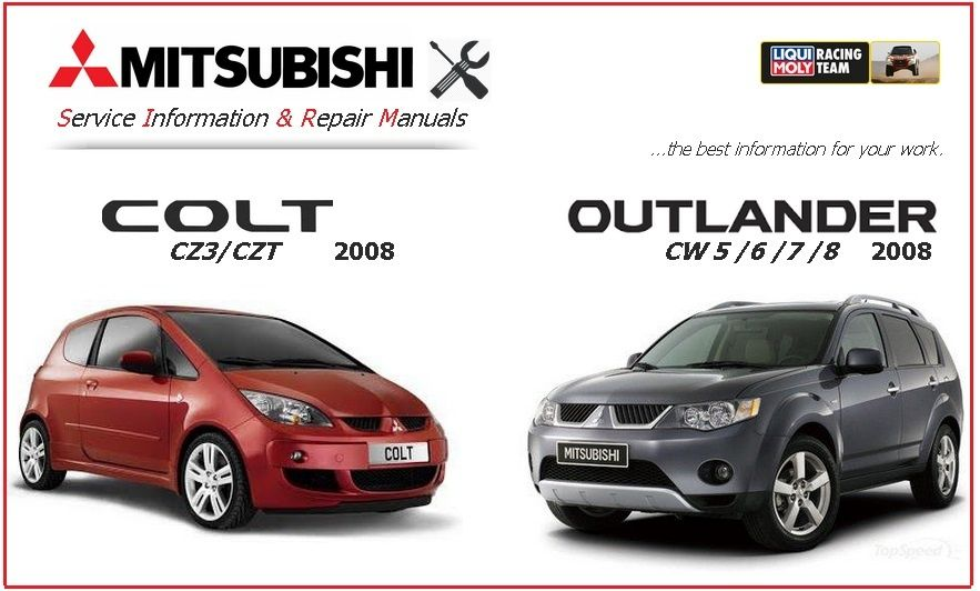 Service Manual Mitsubishi Outlander 2010