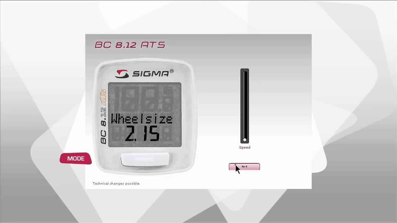 Sigma bc 8.12 manual pdf