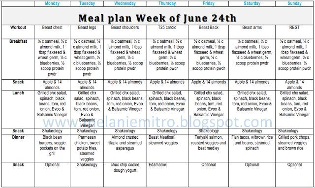 T25 fast track meal plan pdf