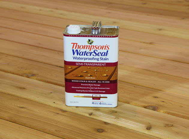 thompson water seal stain instructions