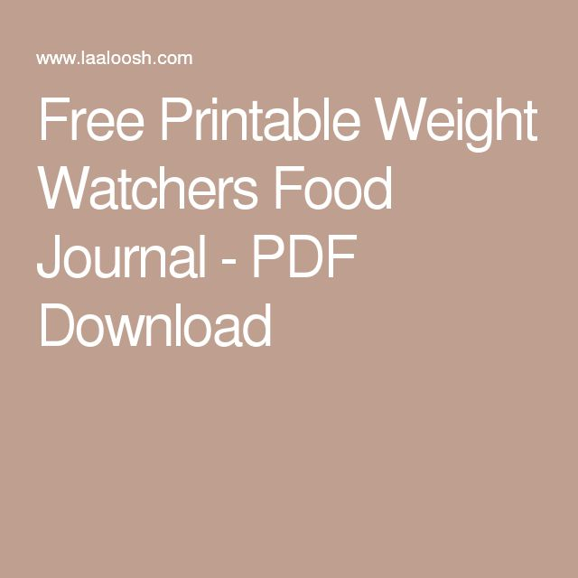 Weight watchers pro points guide free download
